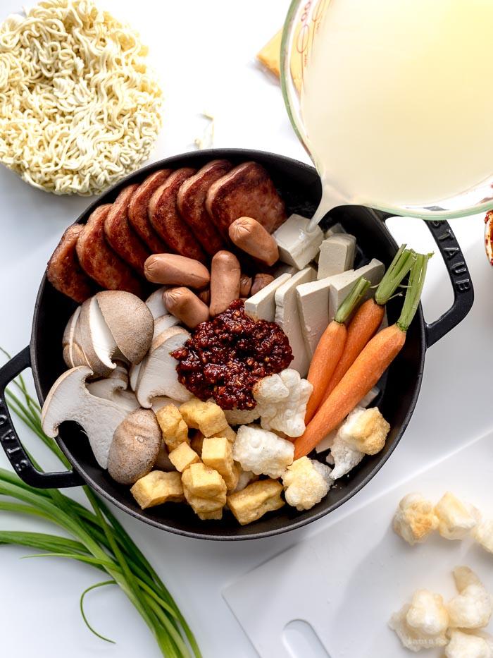 Budae Jjigae Korean Army Stew Recipe - www.iamafoodblog.com