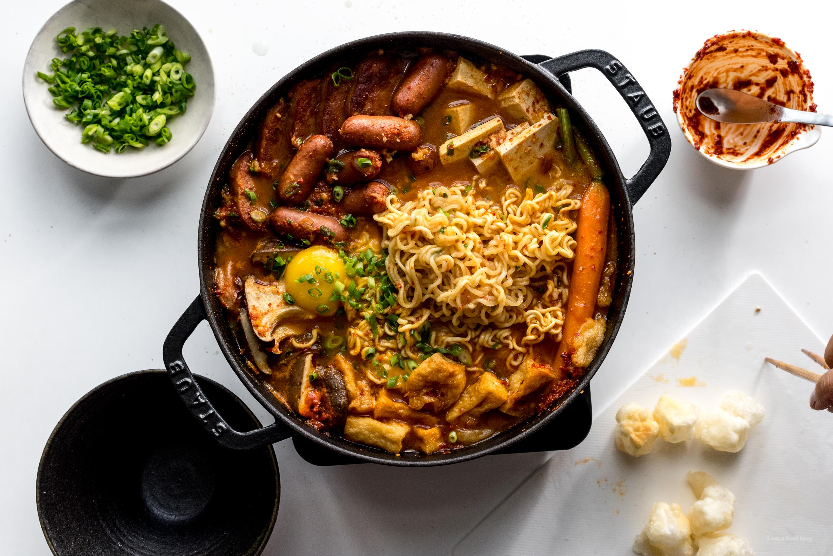 Budae jjigae korean army stew recipe i am a food blog i am a food blog it feels like fall has arrived and i have the perfect dish to get all warm and cozy with korean army stew i love anything soupy and stewy when its cold forumfinder Choice Image