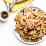 One-Bowl Pumpkin Chocolate Chip Mini Pancakes - www.iamafoodblog.com