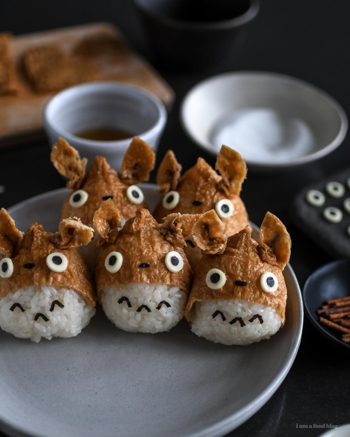 Totoro inari sushi recipe i am a food blog i am a food blog totoro inari sushi recipe iamafoodblog forumfinder Choice Image