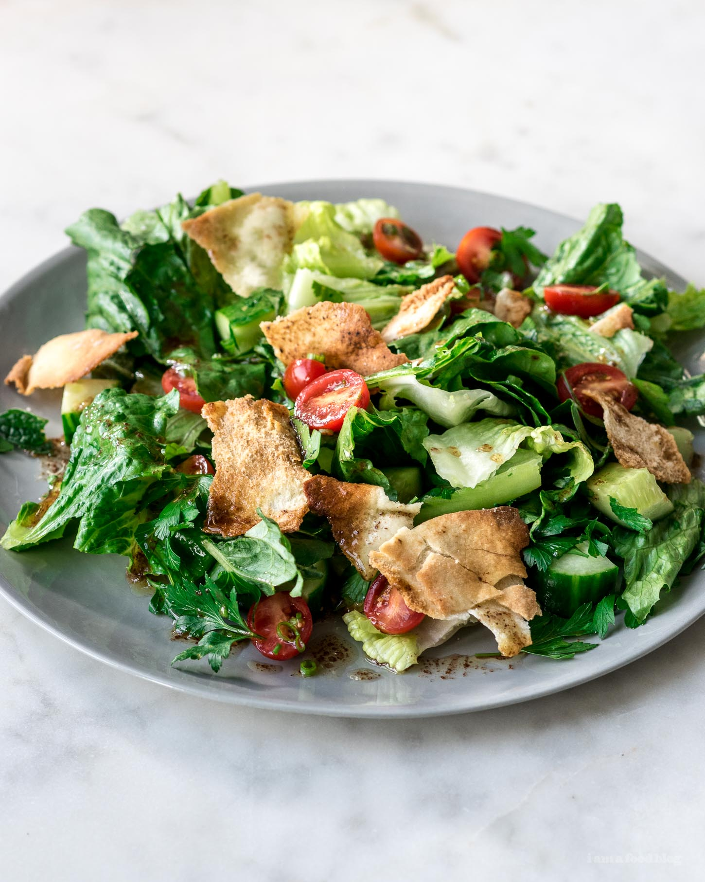 Fattoush Salad Recipe - www.iamafoodblog.com