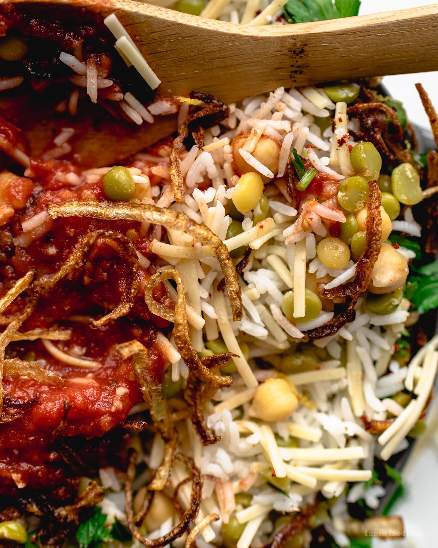 Egyptian Kosheri Rice Recipe   www.iamafoodblog.com