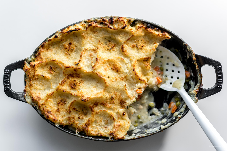 potato topped turkey pot pie | i am a food blog