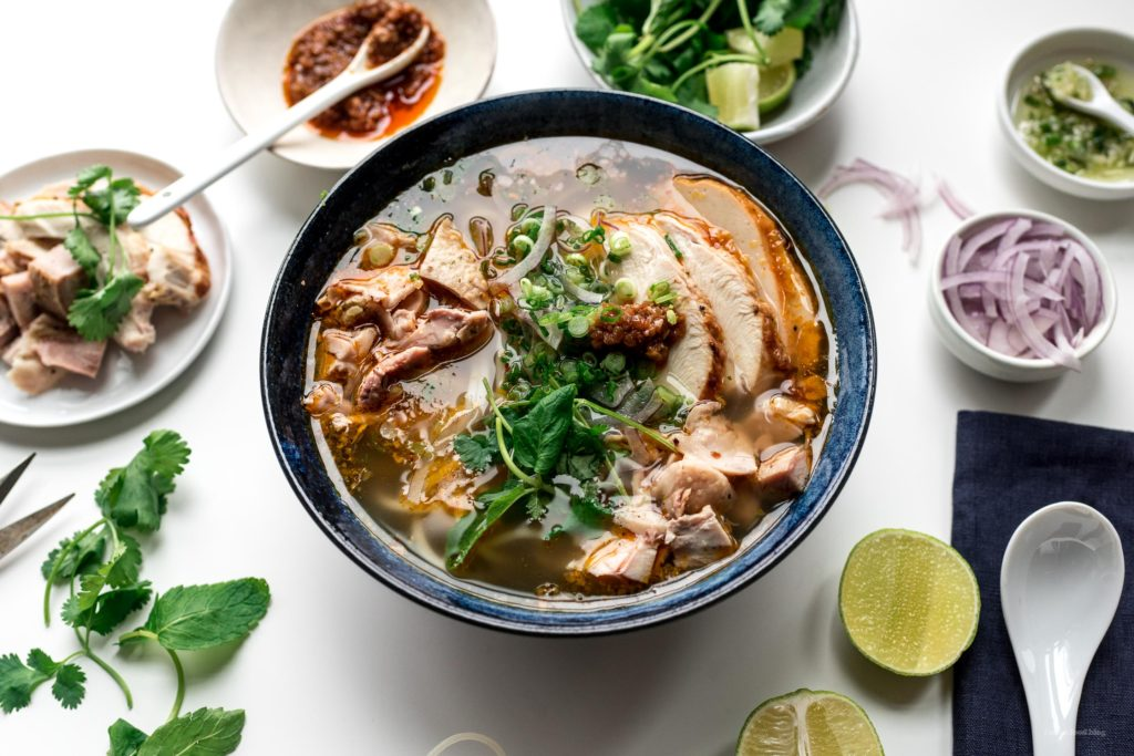 Hue Style Spicy Turkey Vermicelli Noodle Soup Recipe   www.iamafoodblog.com