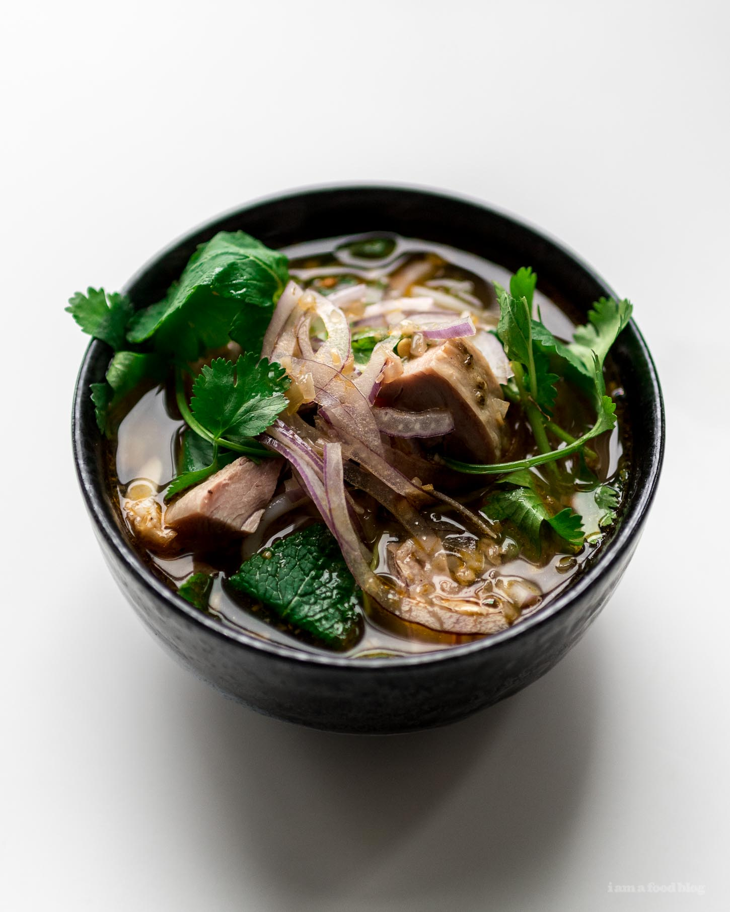 Hue Style Spicy Turkey Vermicelli Noodle Soup Recipe | www.iamafoodblog.com