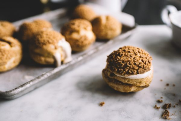 whiskey cookie cream puffs | i am a food blog