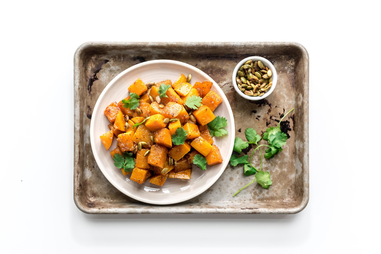 honey garlic roasted butternut squash | i am a food blog