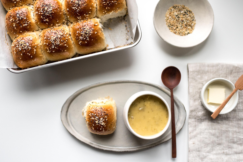 Everything Bagel Dinner Rolls | www.iamafoodblog.com