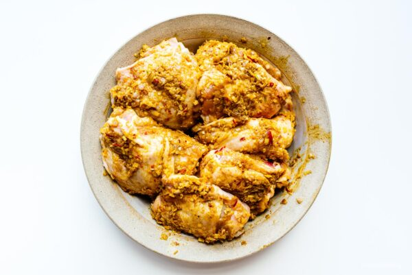 marinating chicken for chicken curry | www.iamafoodblog.com