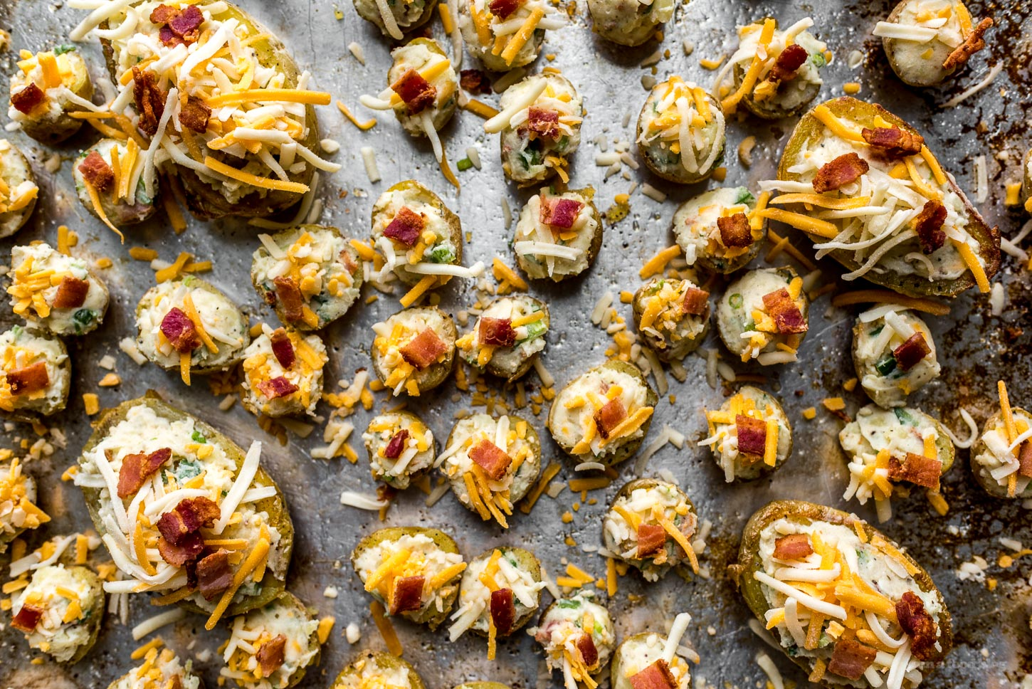 Jalapeño Bacon Ranch Mini Twice Baked Potatoes Recipe | www.iamafoodblog.com