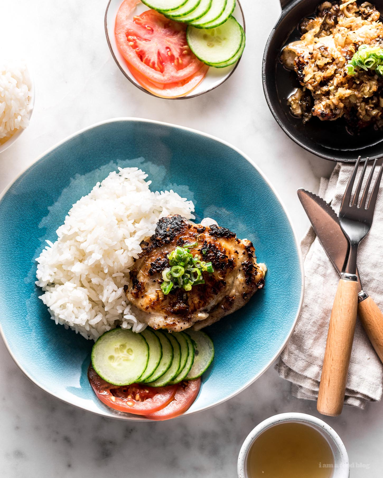 Crispy Pan Fried Lemongrass Chicken Recipe | www.iamafoodblog.com