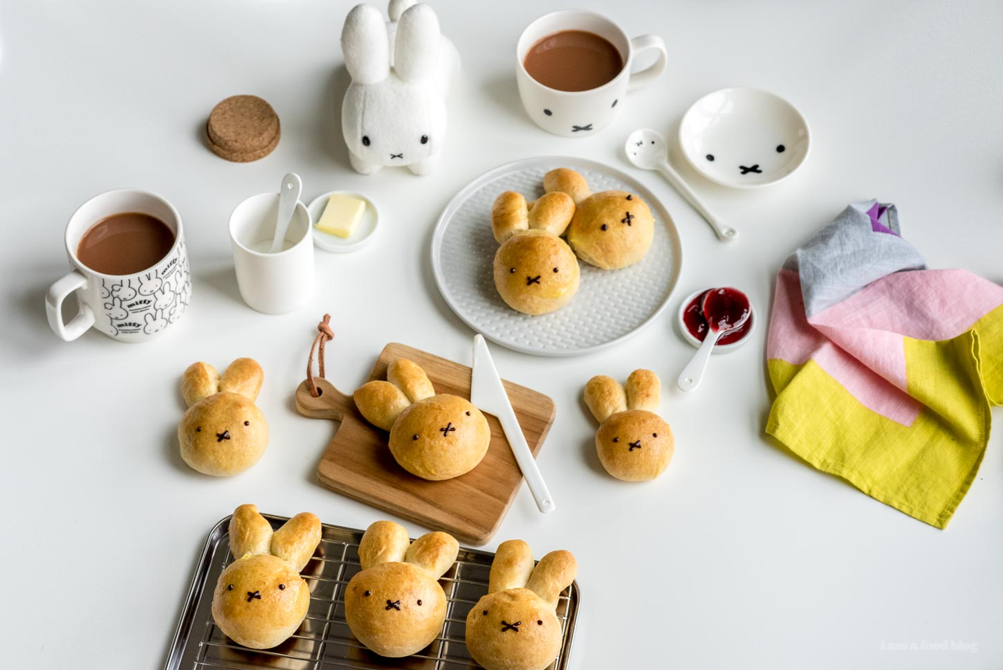 How to Make Miffy Hot Cross Buns | www.iamafoodblog.com