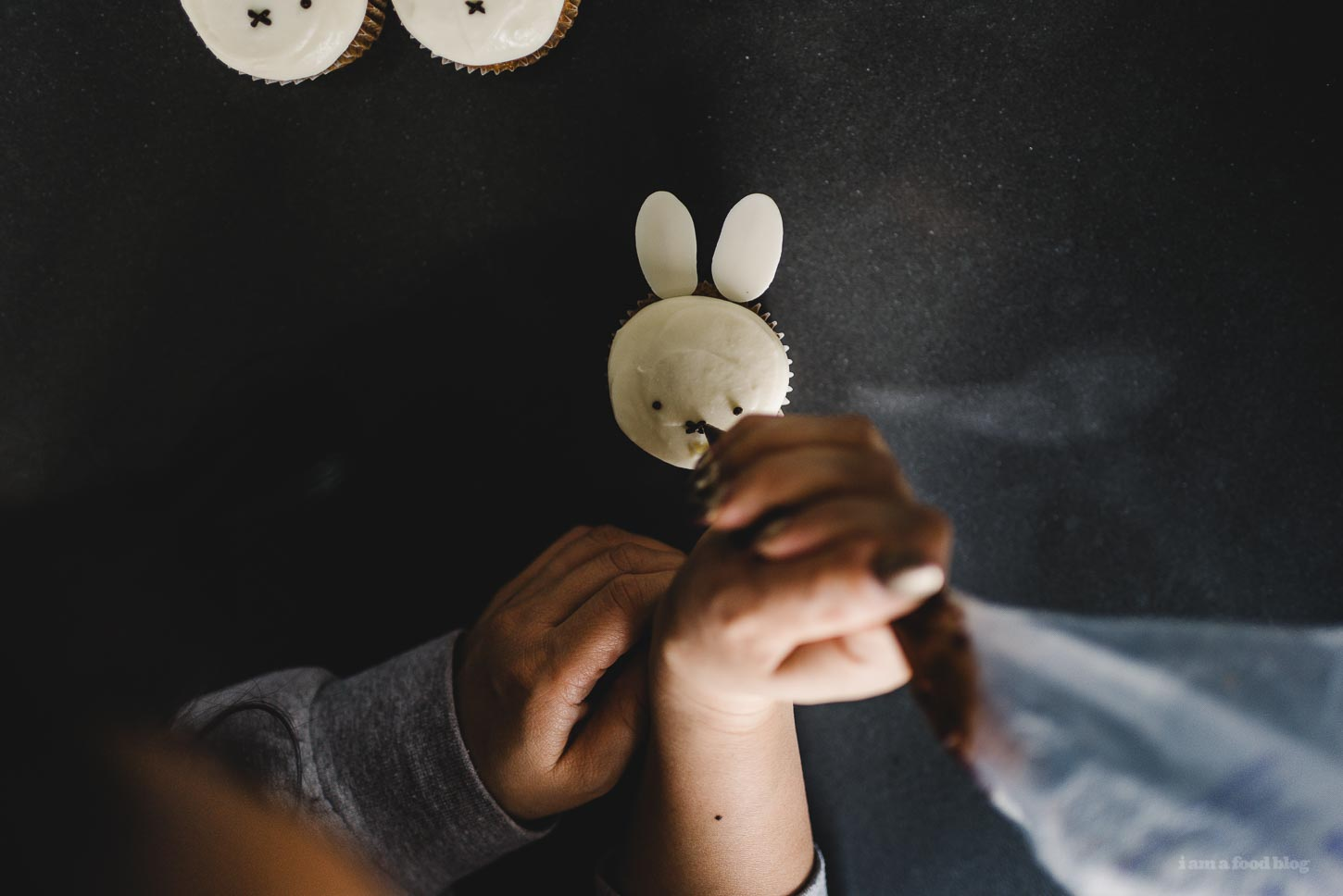 Miffy Small Batch Carrot Cupcakes | www.iamafoodblog.com