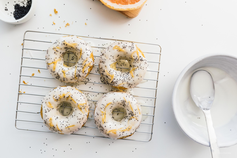 Small Batch Grapefruit Olive Oil Yogurt Baked Donuts Recipe