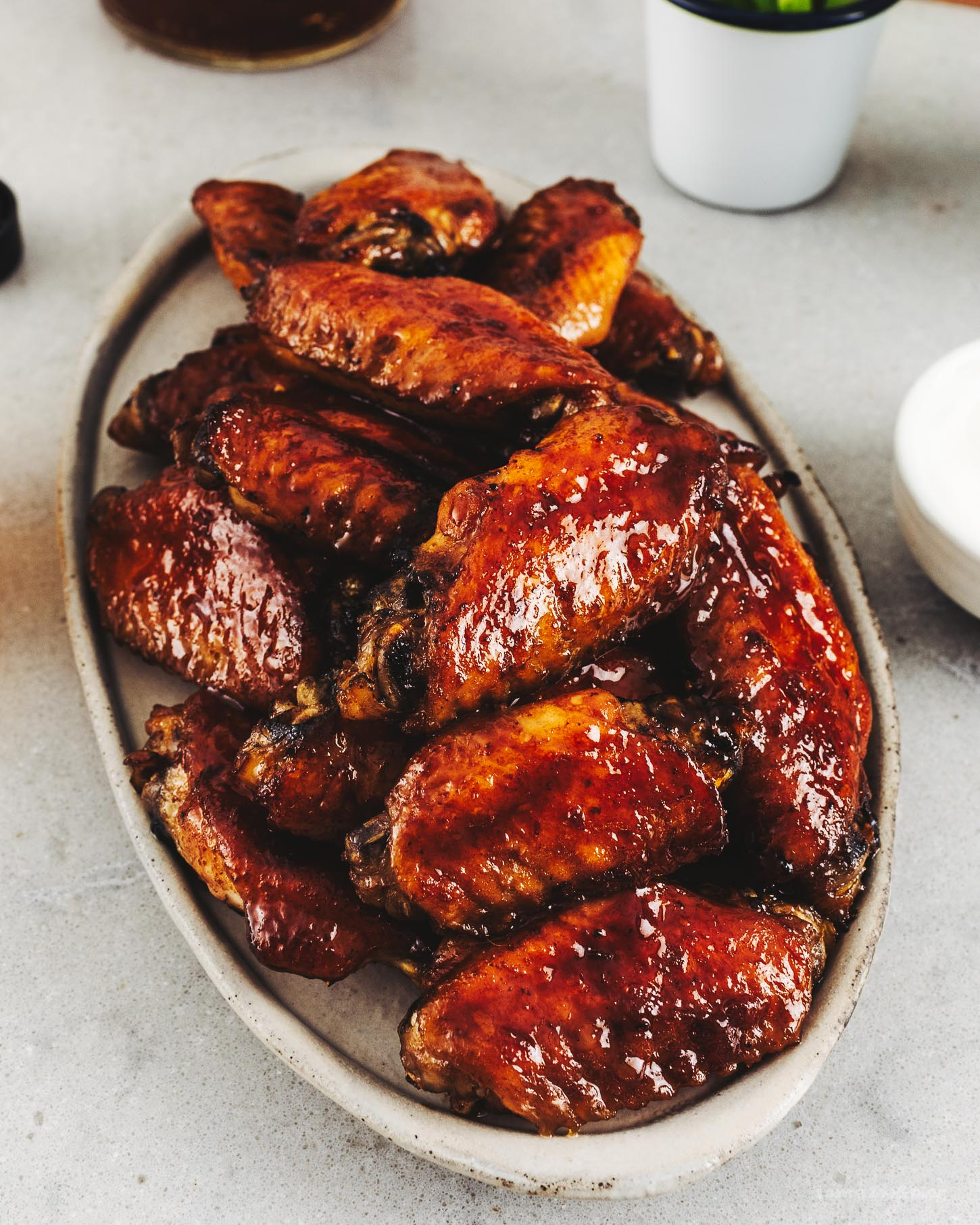 Bourbon Honey Char Siu Wings Recipe | www.iamafoodblog.com