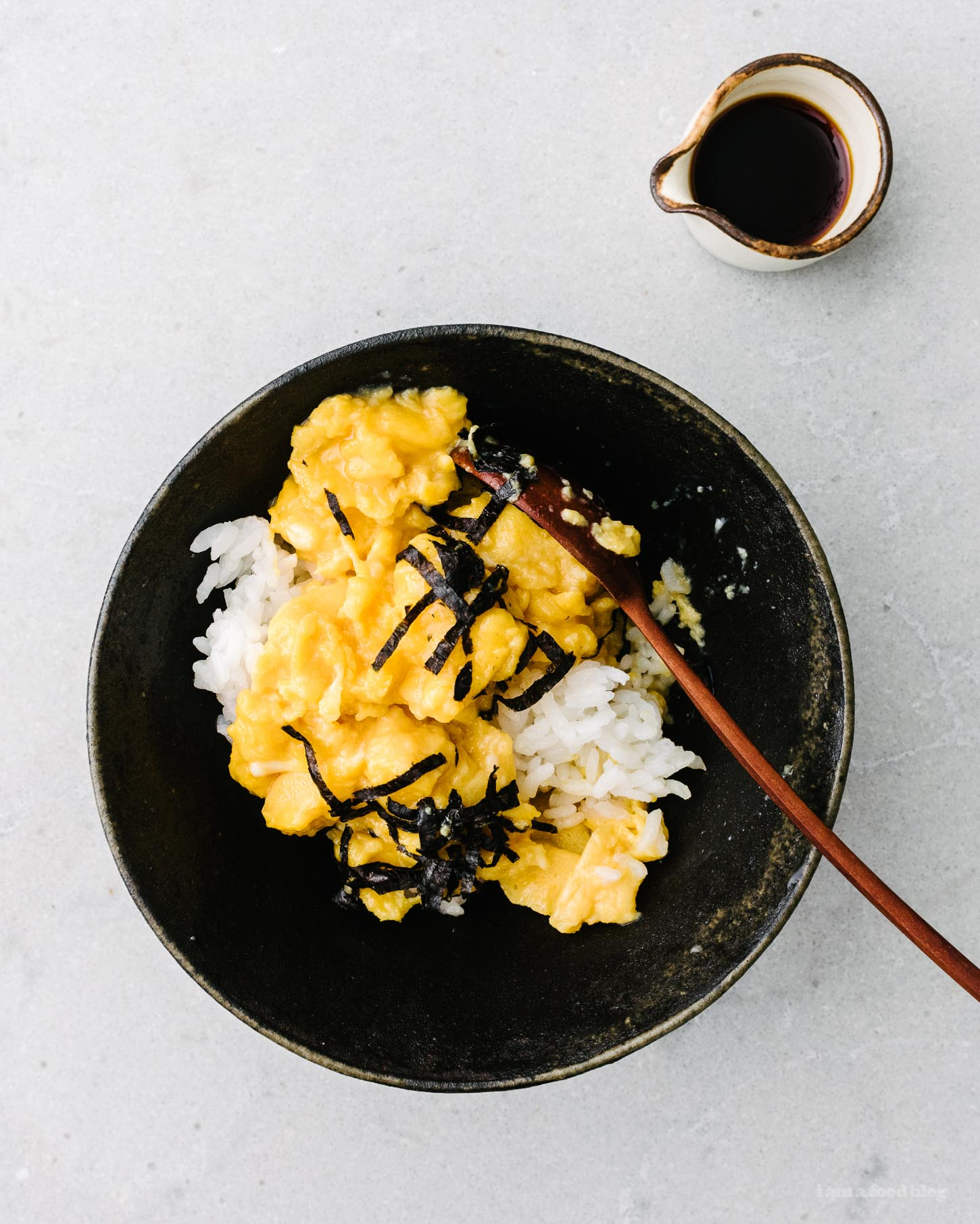 Soft Scrambled Japanese Tamago Rice Bowl Recipe | www.iamafoodblog.com