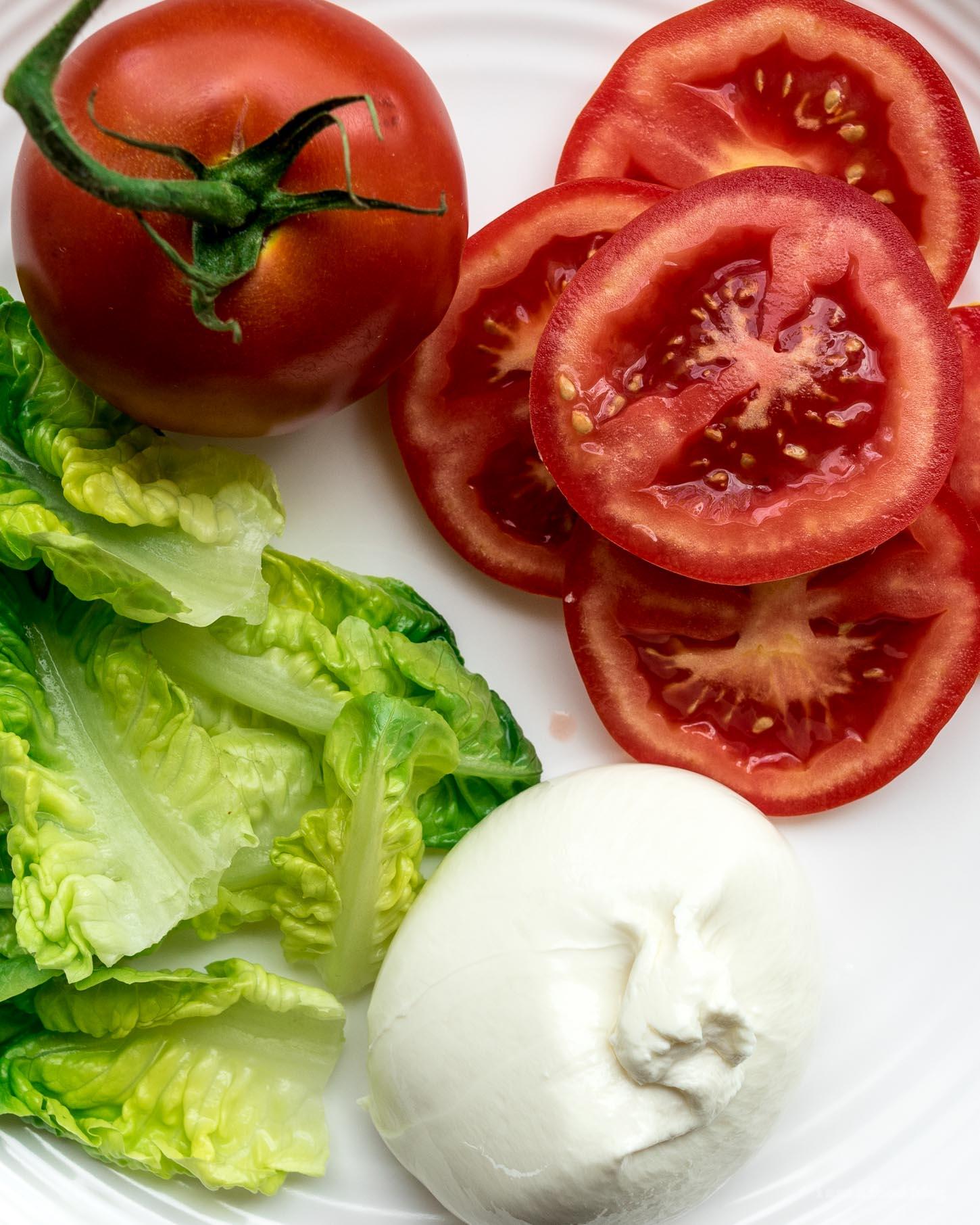 BLT Burrata, Lettuce, and Tomato Sandwich   www.iamafoodblog.com
