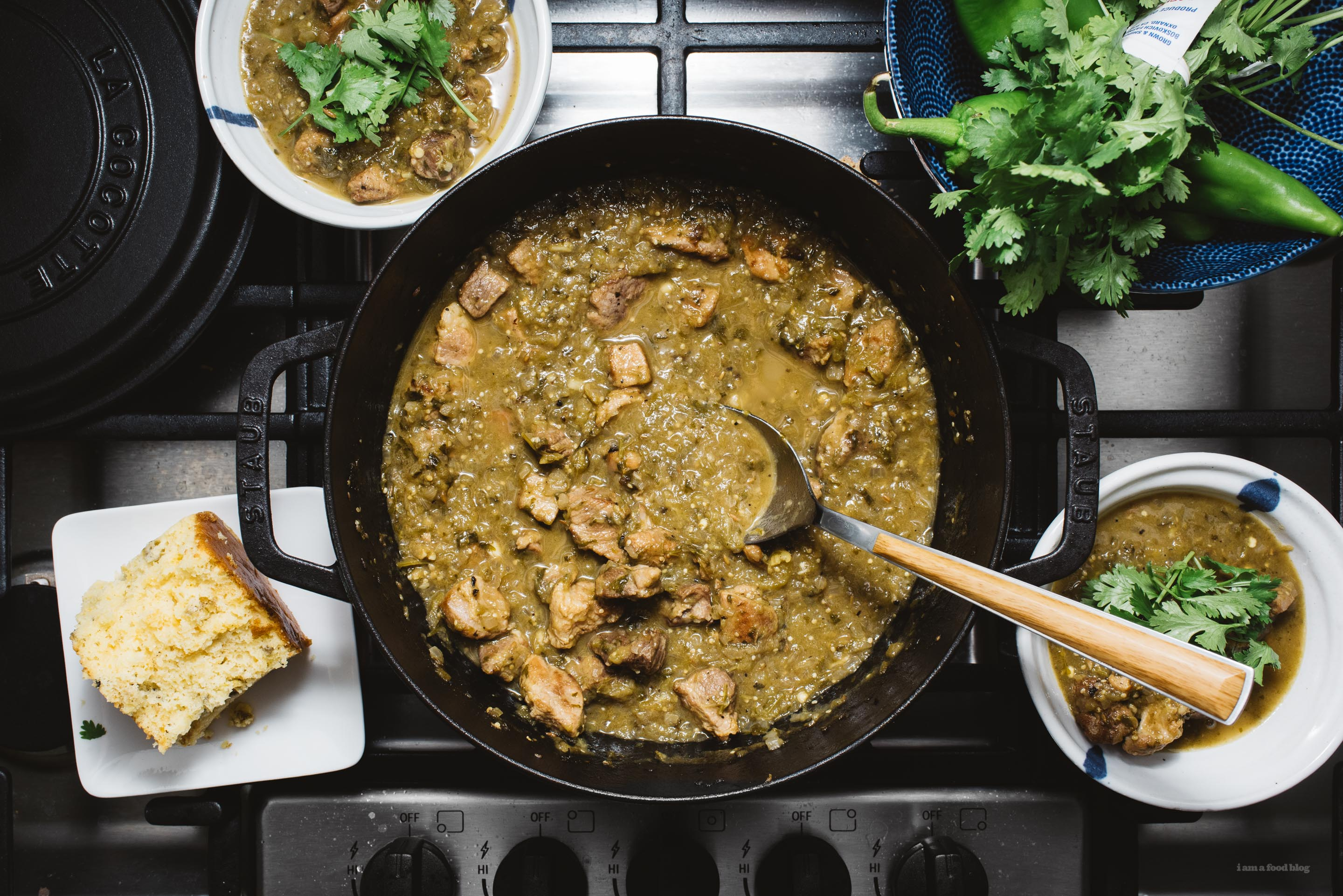 This Easy Slow Cooker New Mexico & Colorado Hatch Chile Verde Recipe may be the best pork stew you've ever tasted