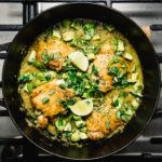Oven-Baked Hatch Chile Salsa Verde Honey Chicken Thighs | www.iamafoodblog.com