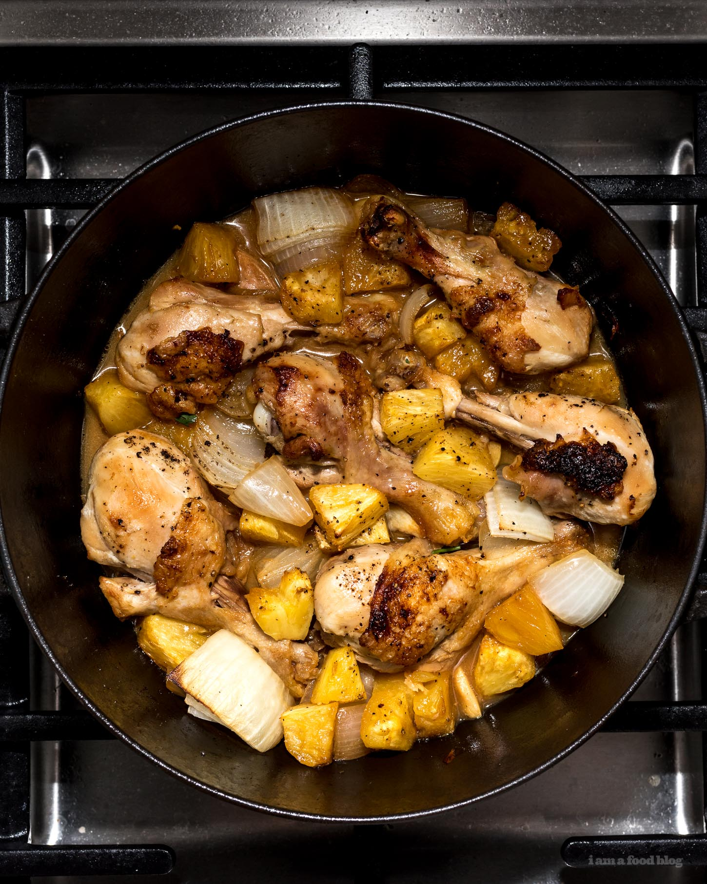 Oven Baked Pineapple Chicken from I Am a Food Blog on foodiecrush.com