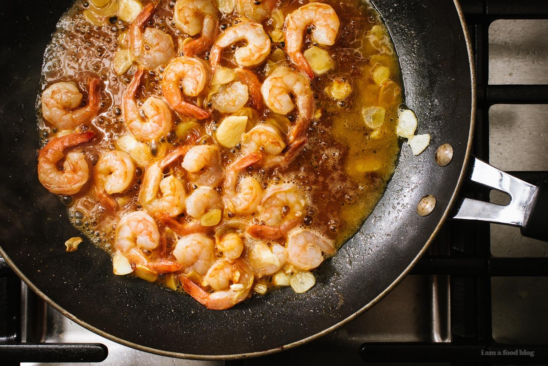 Easy 15 Minute Garlic Shrimp Scampi Chow Fun Noodles Recipe   www.iamafoodblog.com
