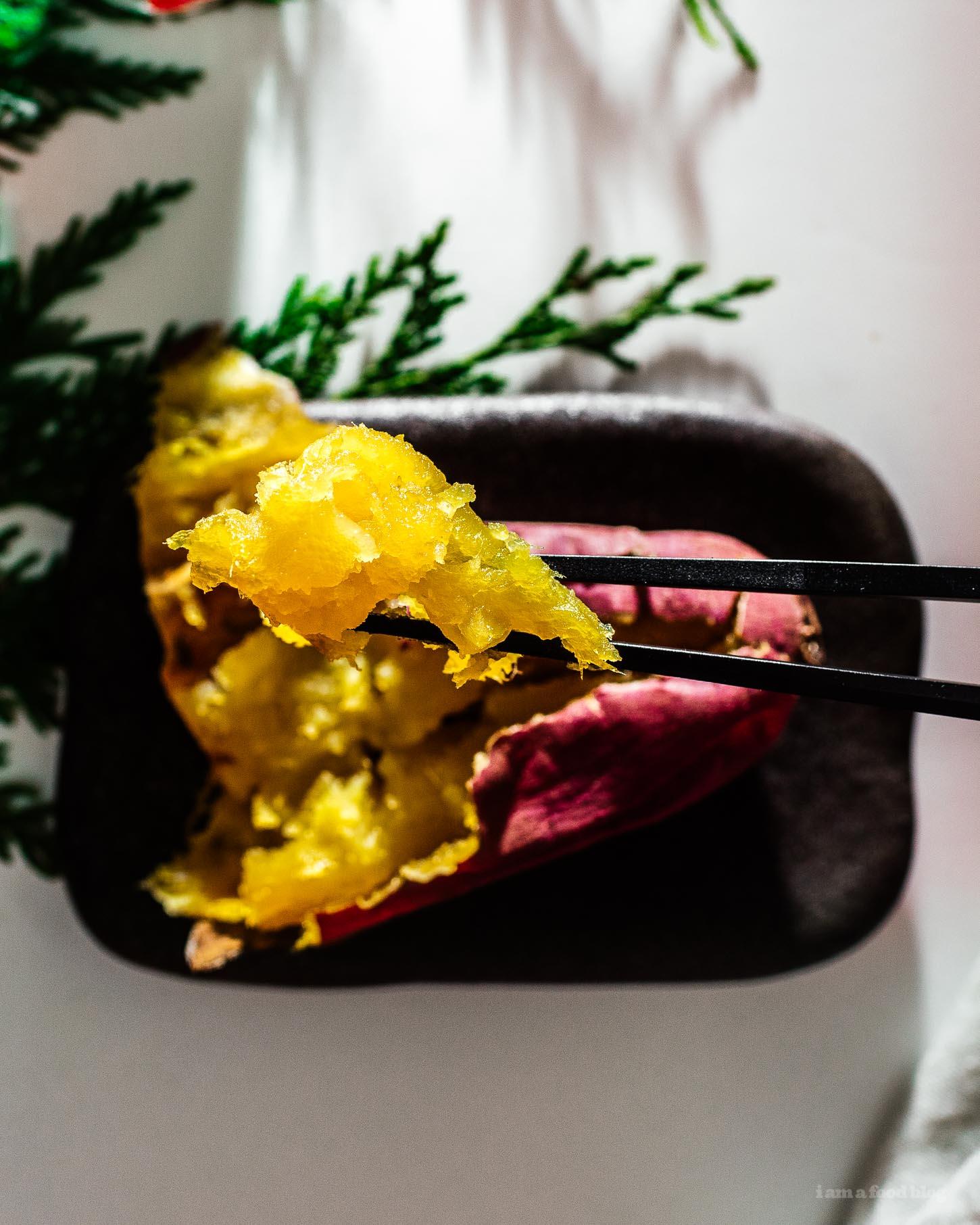 Yaki Imo: Roasted Japanese Sweet Potatoes | www.iamafoodblog.com