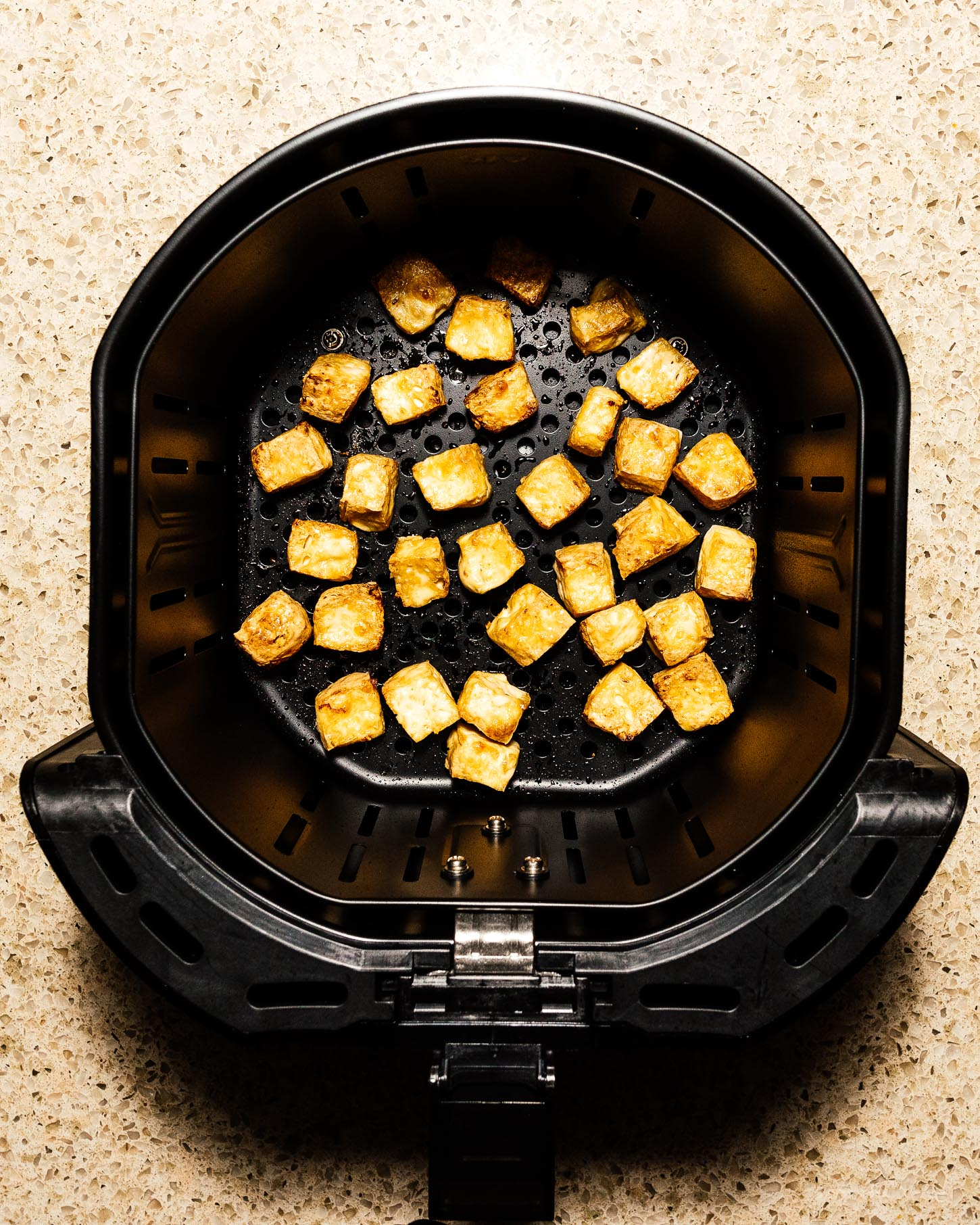 How to Make Crispy Air Fryer Tofu for Stir-Fries, Salads and Bowls | www.iamafoodblog.com