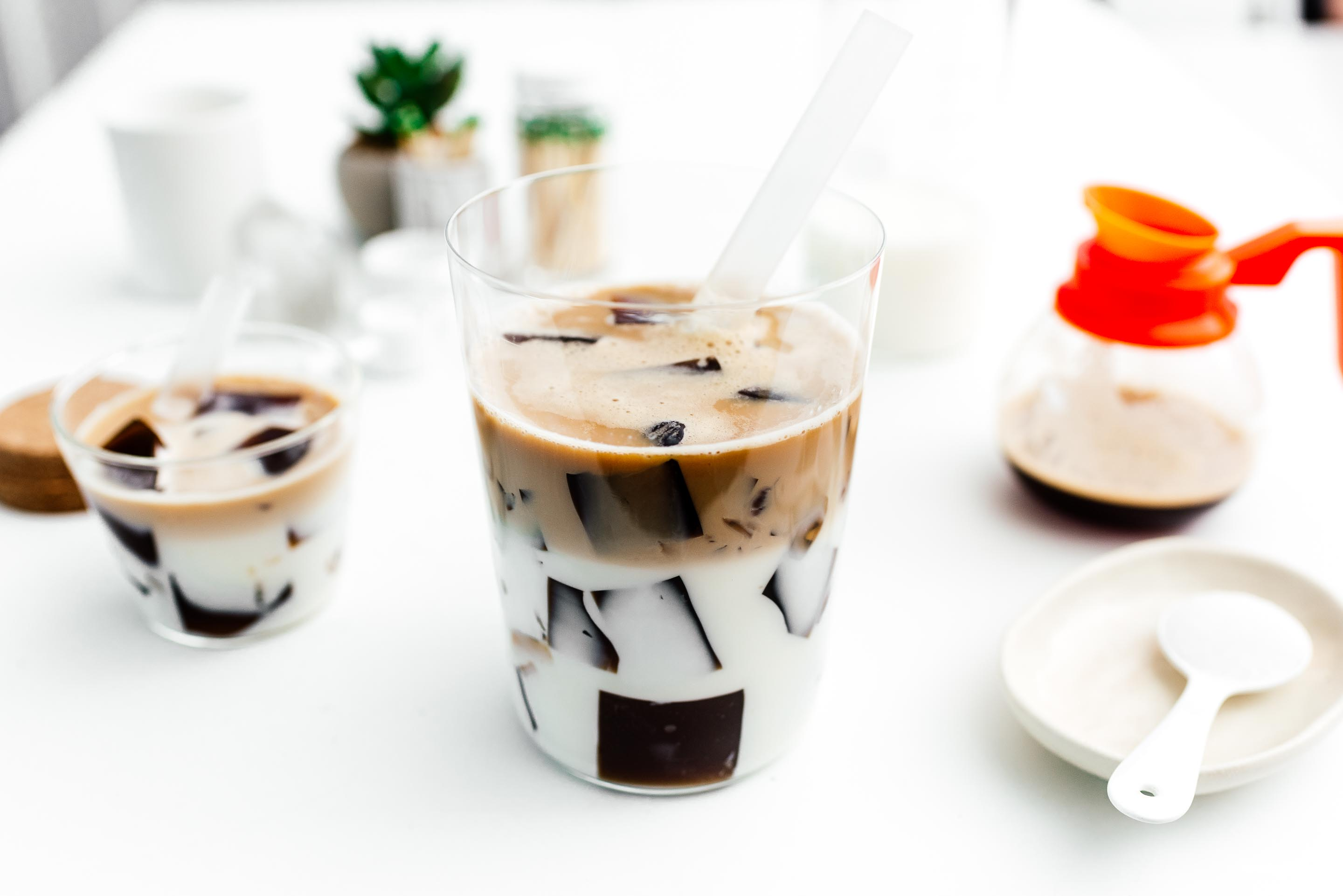 Coffee Jelly Recipe for Boba | www.iamafoodblog.com