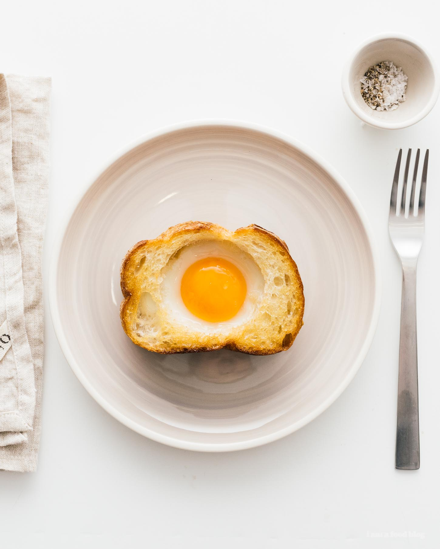 How to make egg-in-a-hole toast | www.iamafoodblog.com