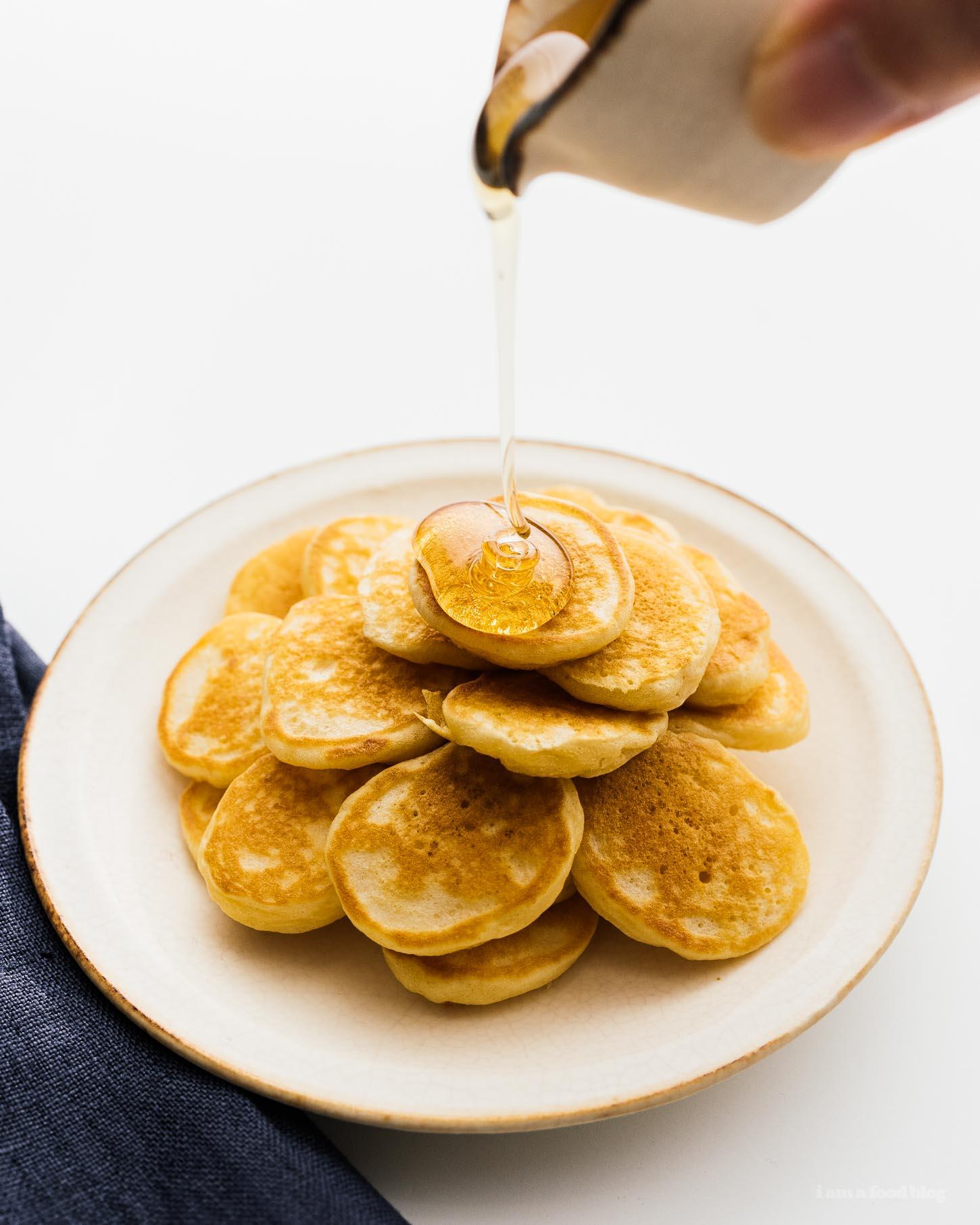 How to make small batch banana pancakes | www.iamafoodblog.com