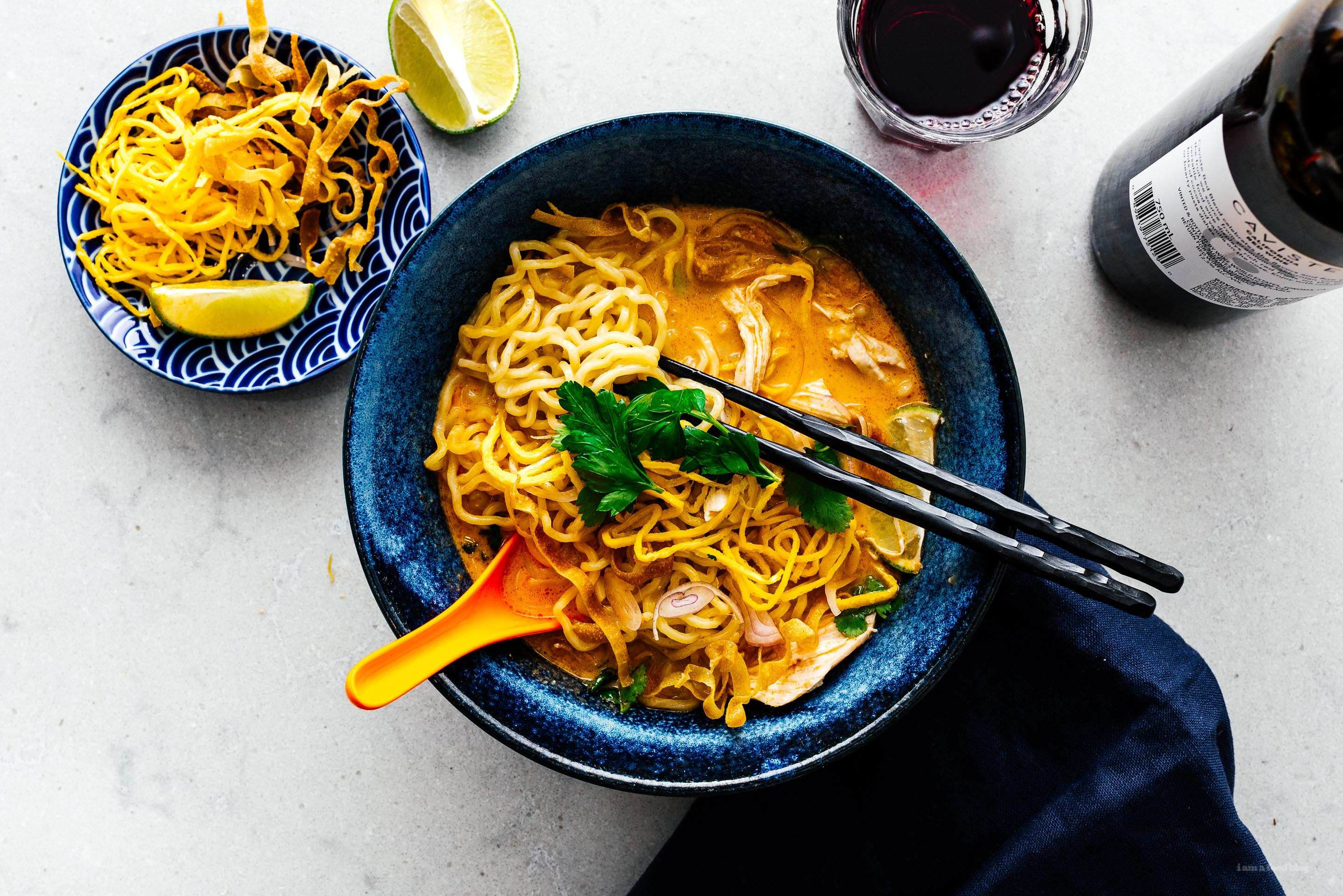 15 Minute Khao Soi: Thai Coconut Curry Chicken Noodle Soup Recipe