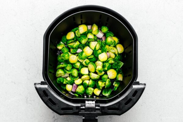 brussels sprouts in air fryer | www.iamafoodblog.com