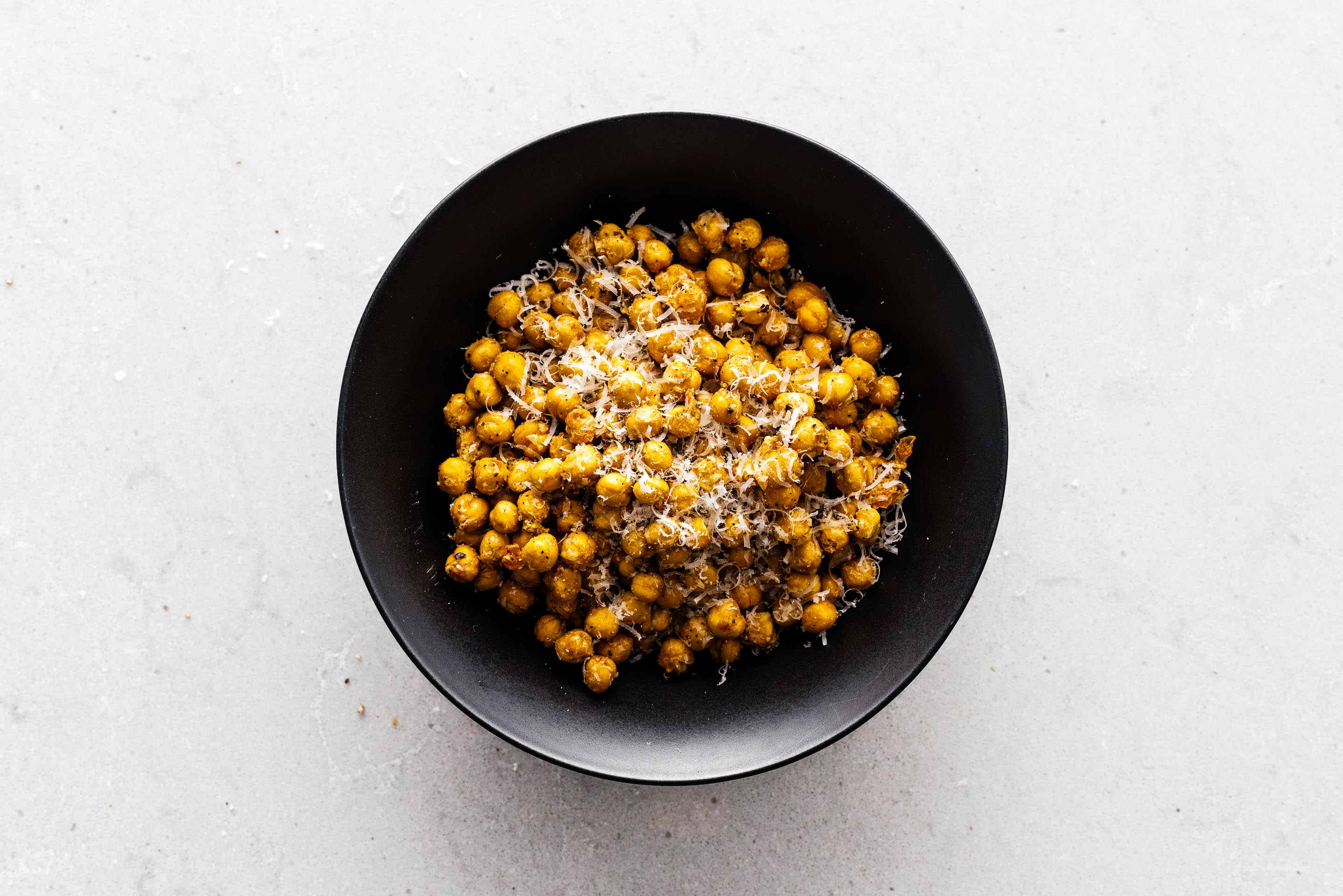 Oven Roasted or Air Fryer Crispy Cacio e Pepe Chickpeas