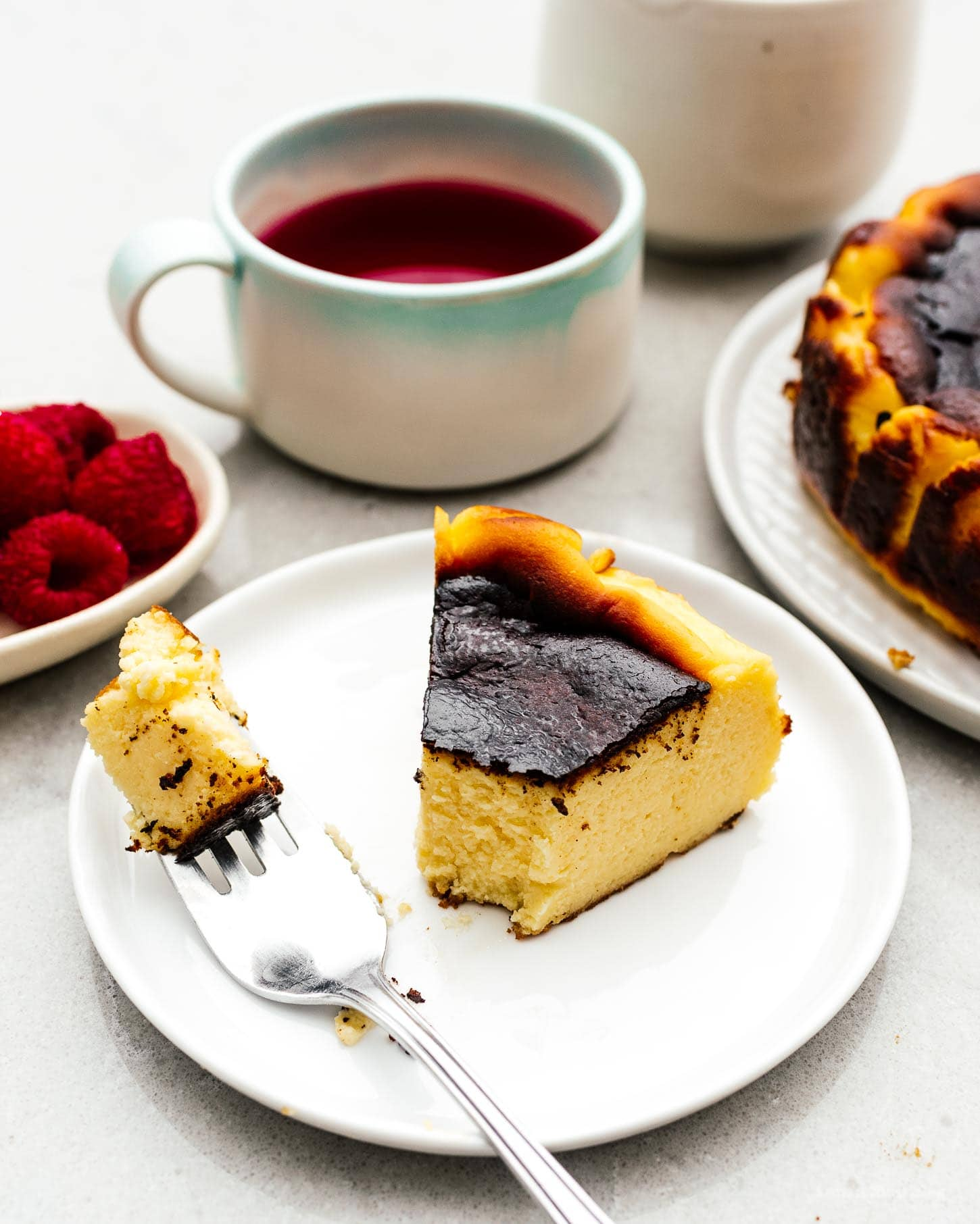 The Easiest Cheesecake You'll Ever Make: 5 Ingredient Burnt Basque Cheesecake Recipe | www.iamafoodblog.com