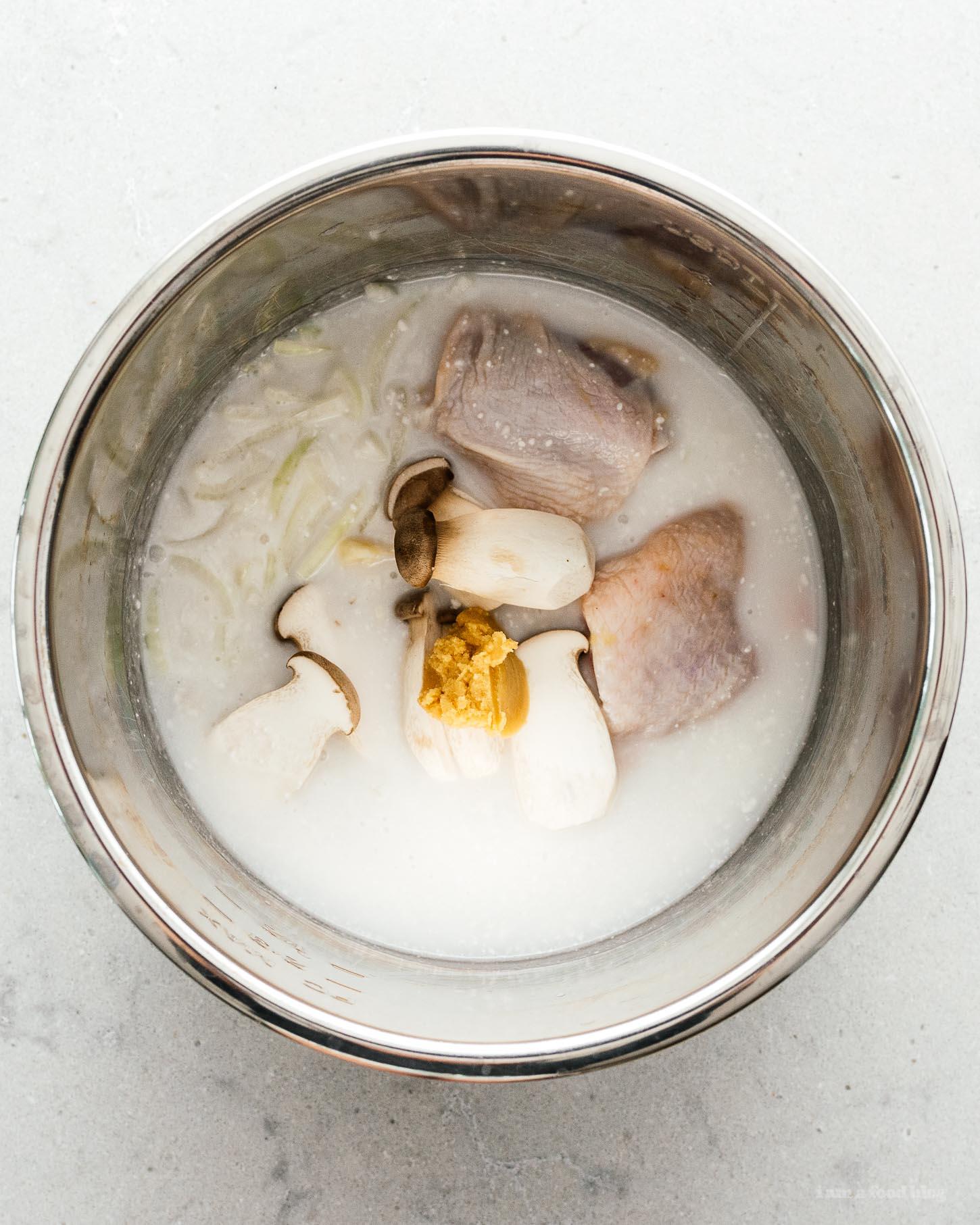 15 Minute Miso Coconut Chicken Ramen Recipe | www.iamafoodblog.com