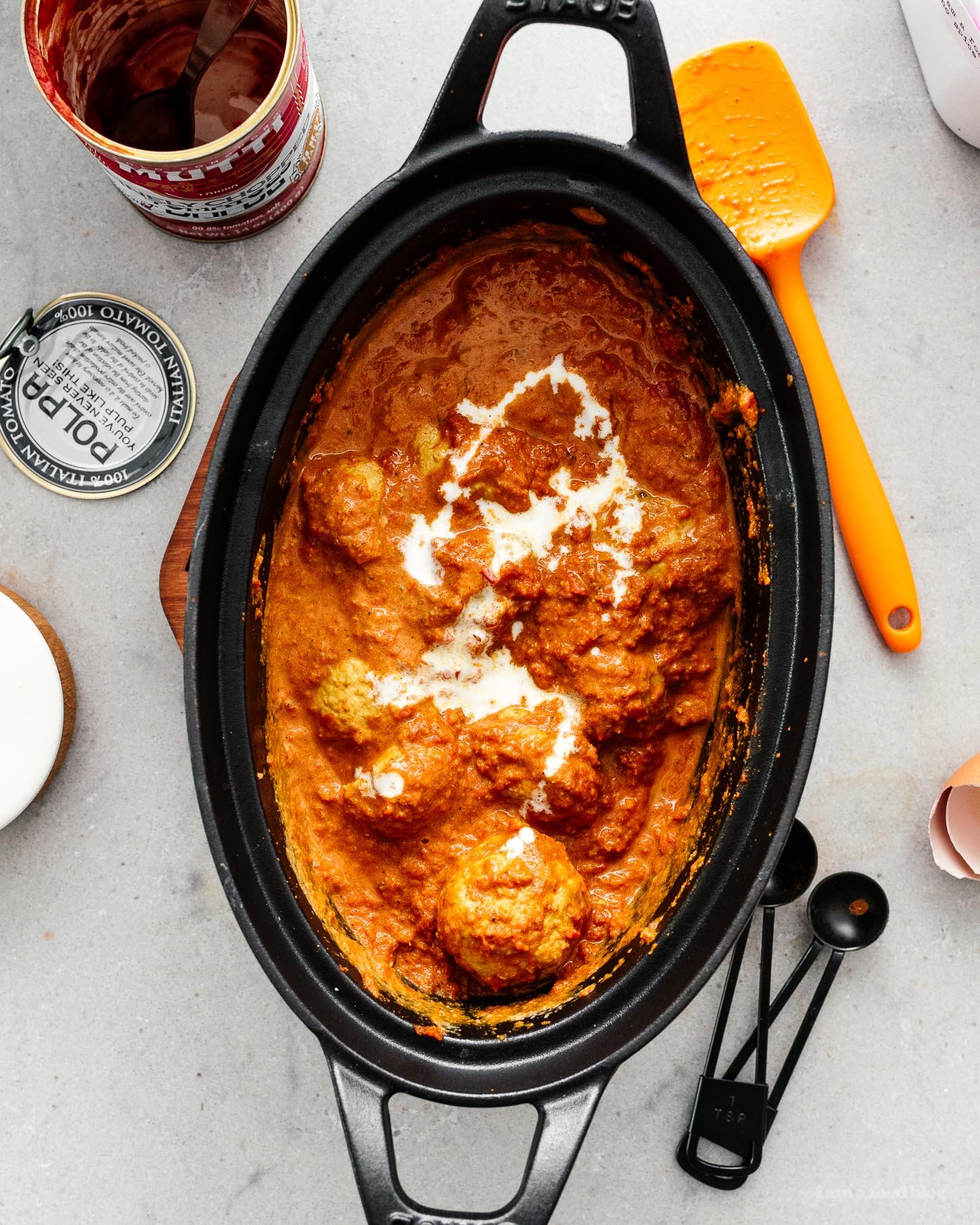 Creamy Comforting 30 Minute Butter Chicken Meatballs | www.iamafoodblog.com