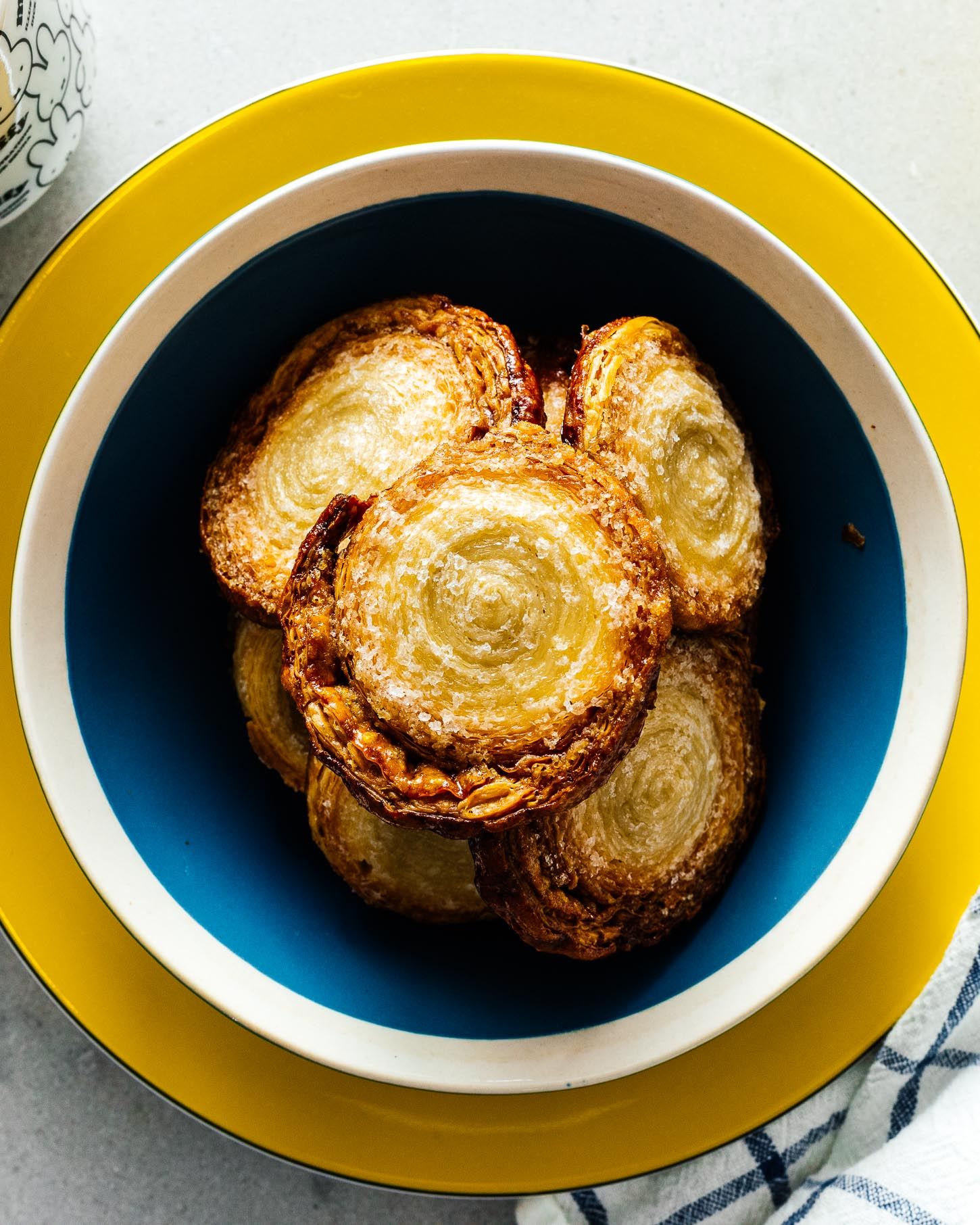 Super Easy 2 Ingredient Small Batch Caramelized Palmier Pinwheels | www.iamafoodblog.com