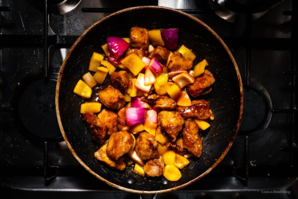 Easy Sweet and Sour Pork Recipe | www.iamafoodblog.com