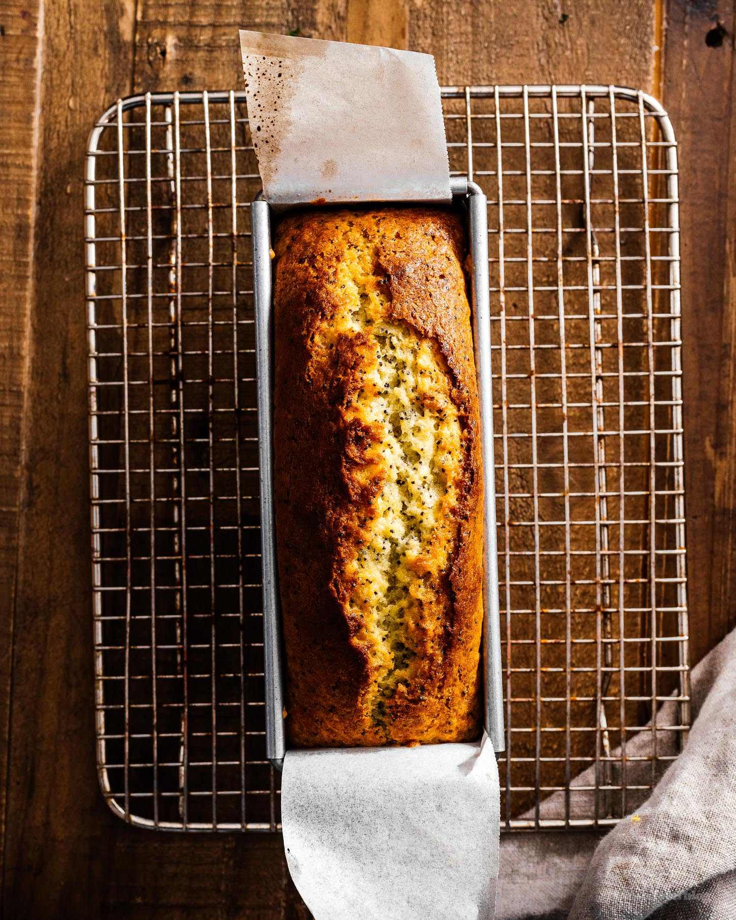 Small Batch Yogurt Lemon Poppyseed Loaf Recipe | www.iamafoodblog.com
