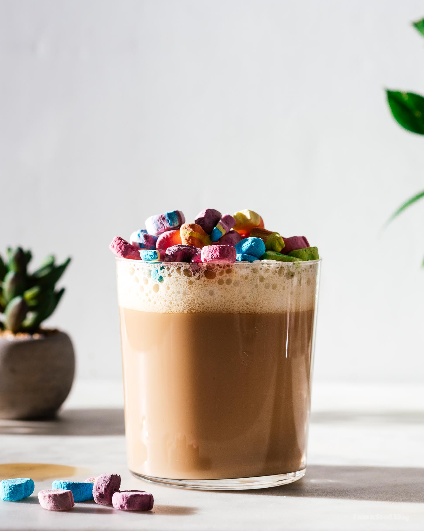 How to Make a Lucky Charms Cereal Milk Latte | www.iamafoodblog.com