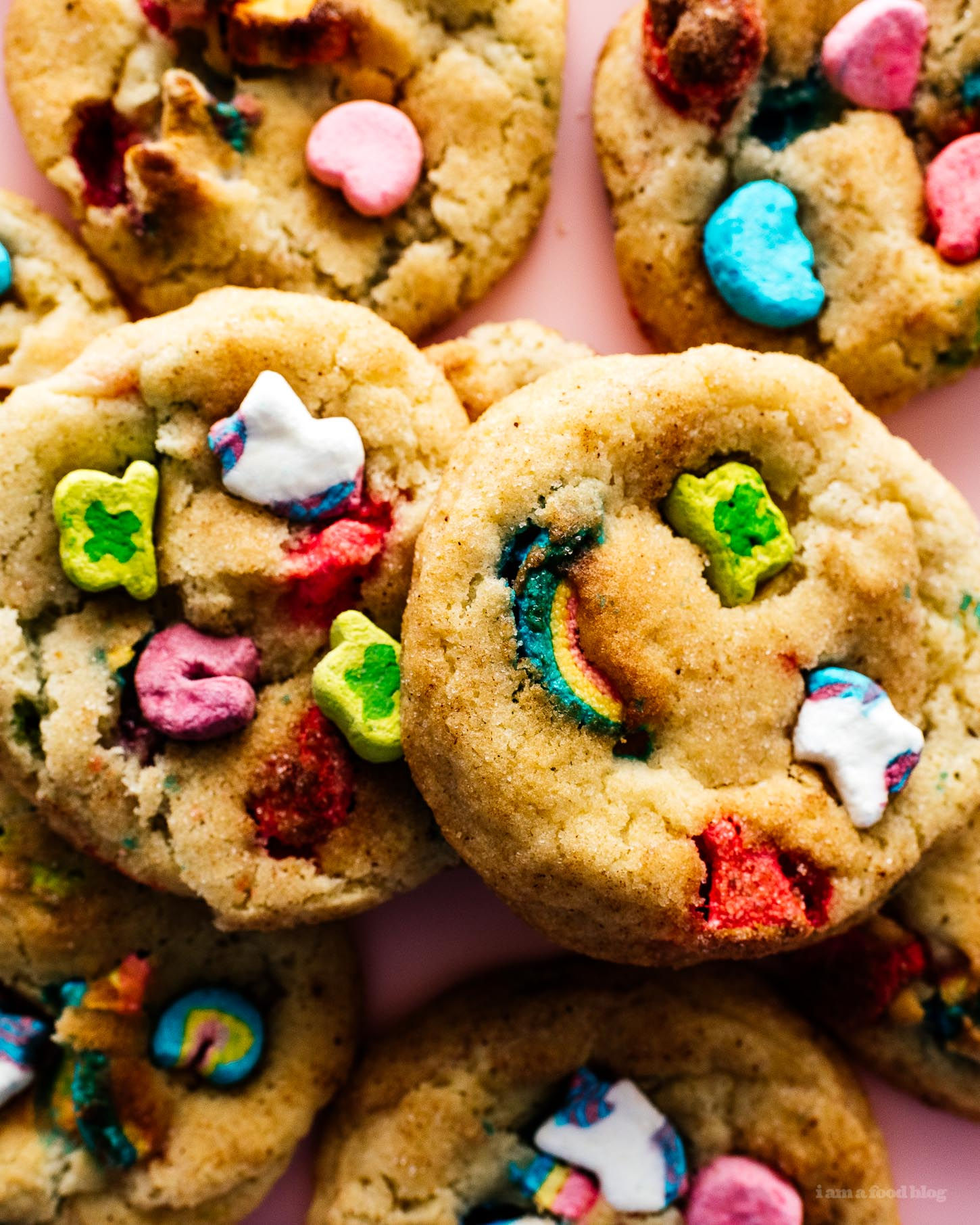 Snickerdoodle Lucky Charms Cookies | www.iamafoodblog.com