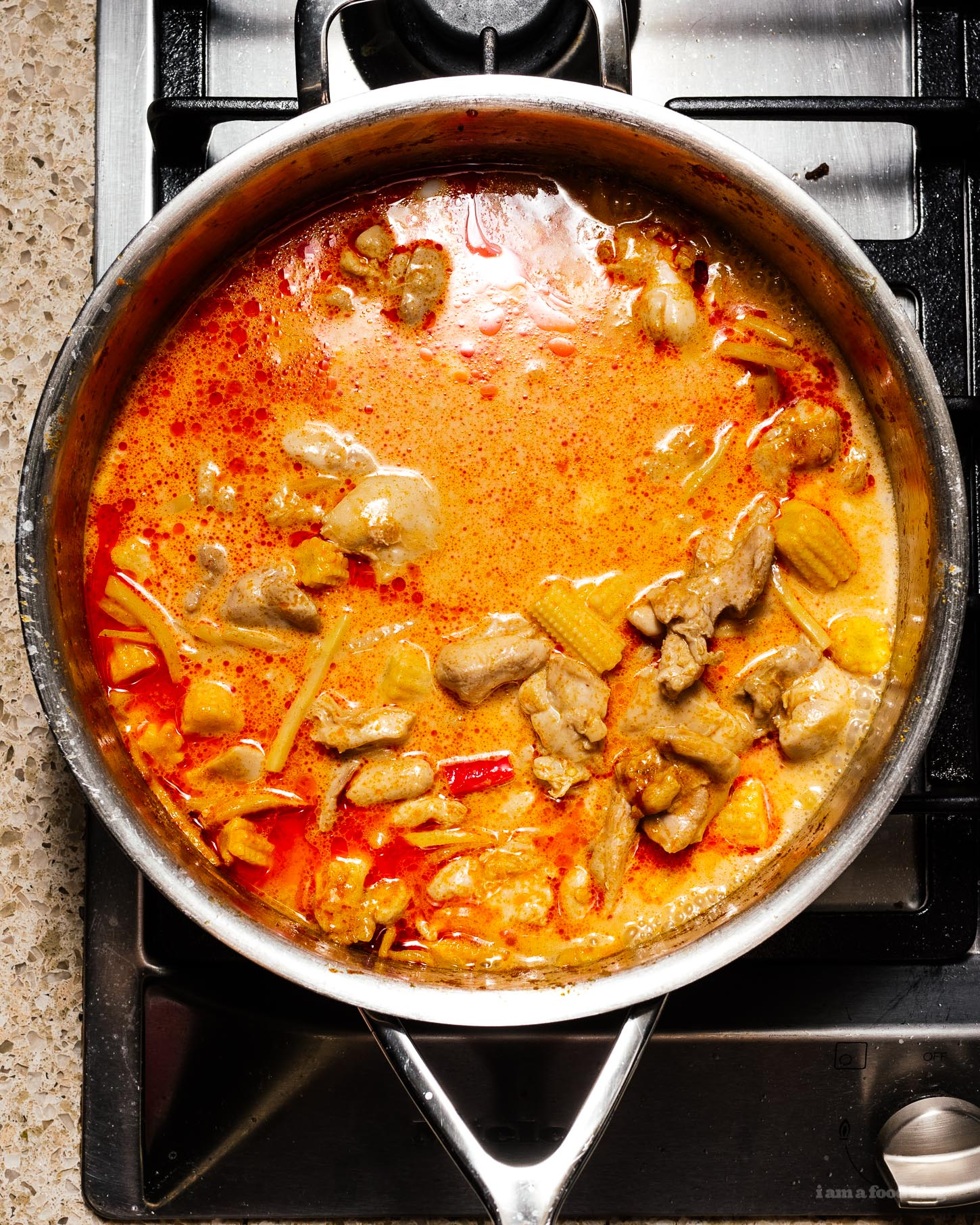Thai Red Curry Chicken With Bamboo Shoots Recipe 183 I Am A Food Blog I Am A Food Blog