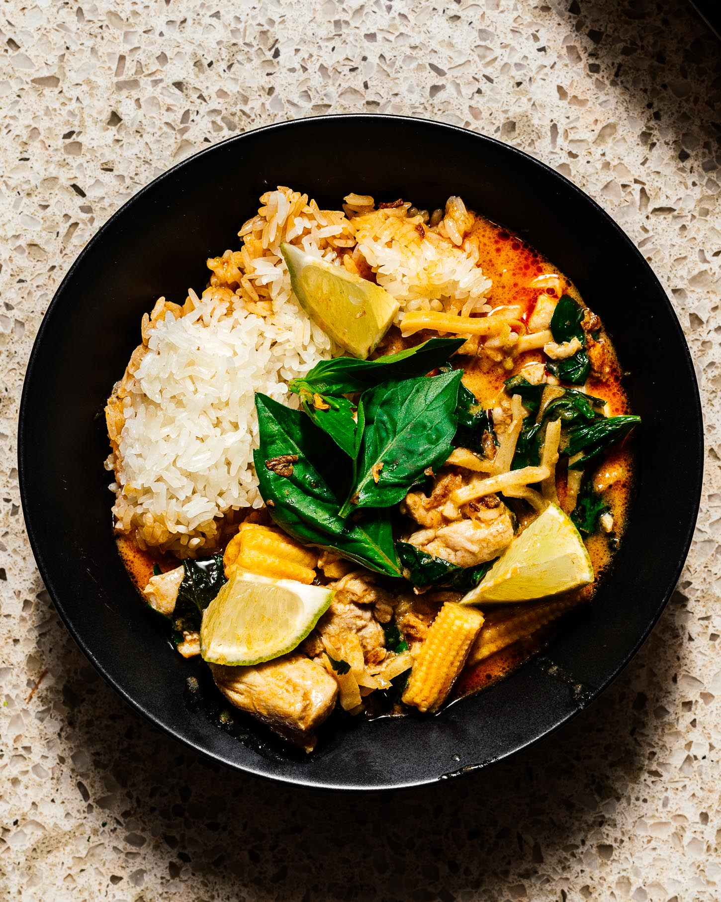 Thai Red Curry Chicken with Bamboo Shoots Recipe | www.iamafoodblog.com