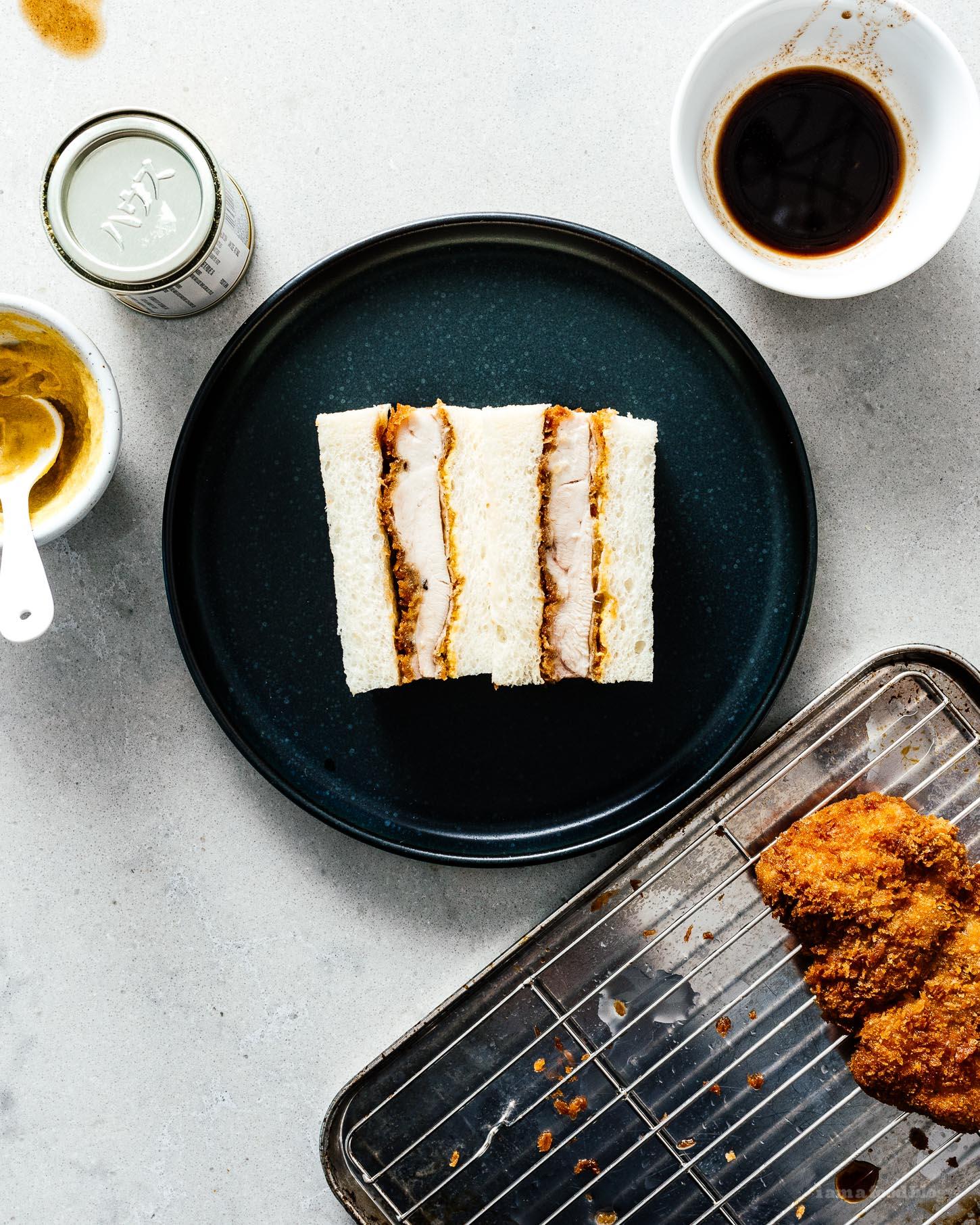 Chicken Katsu Sando: Crispy Japanese Chicken Sandwich Recipe | www.iamafoodblog.com