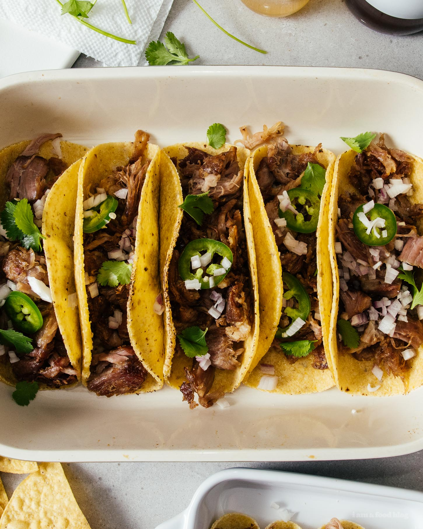 The Ultimate Easy 3 Ingredient Slow Cooker Pork Carnitas | www.iamafoodblog.com