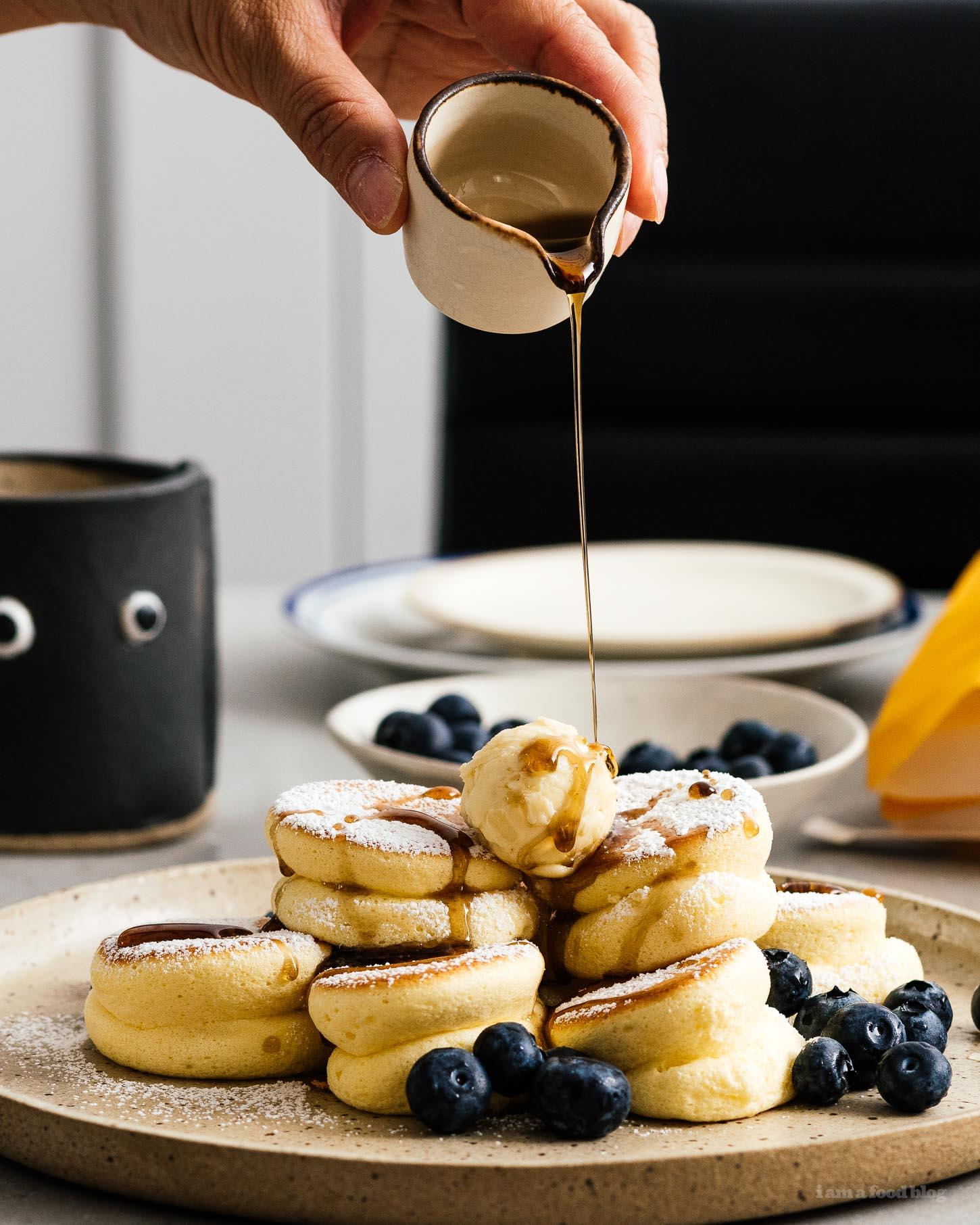 Mile High Mini Japanese Soufflé Pancakes Recipe   www.iamafoodblog.com