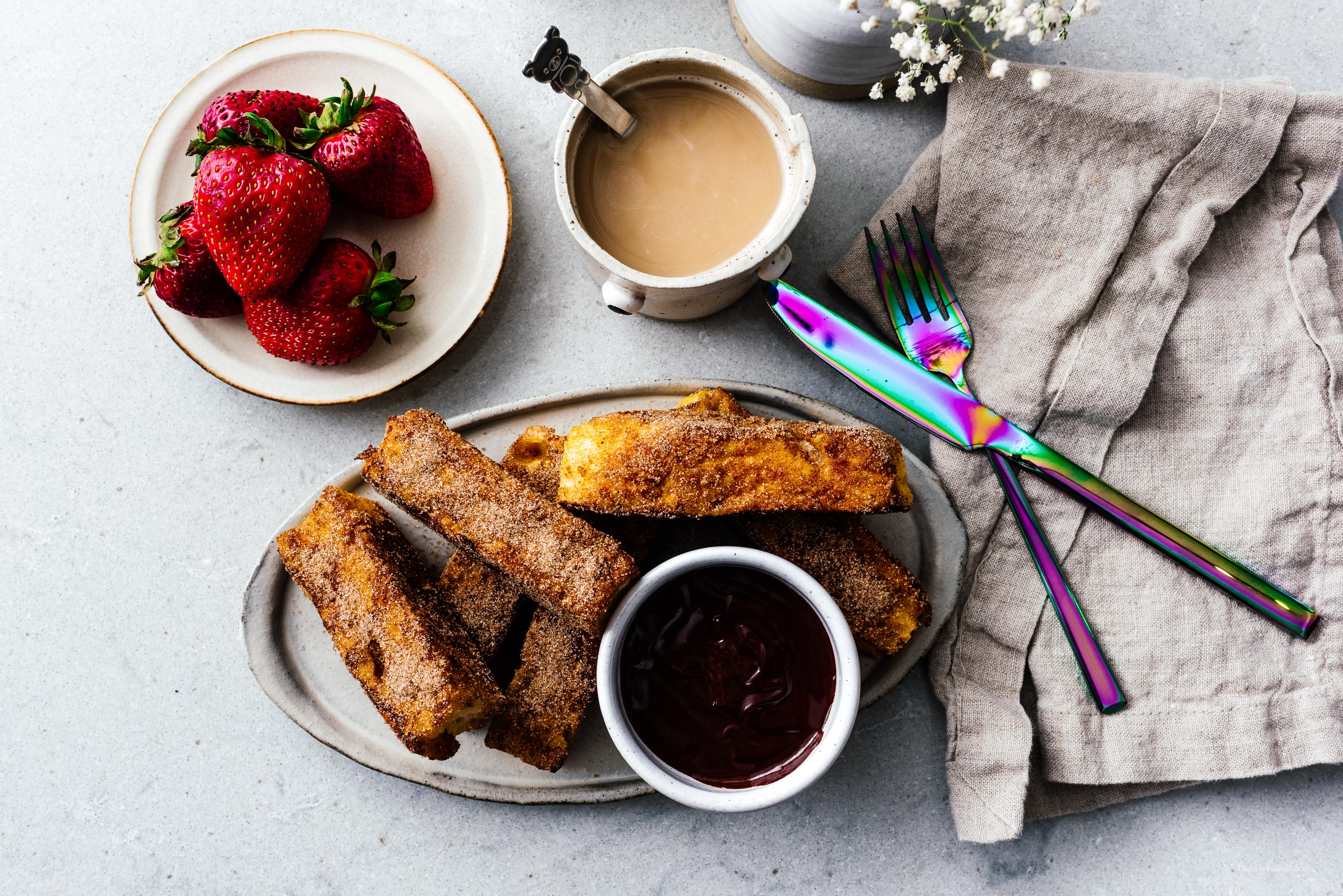 The Best French Toast You'll Ever Eat: Churro French Toast Sticks