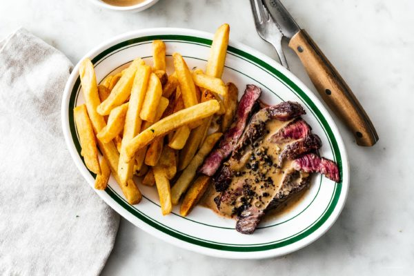 Move over steak spice! Take your steak over the top with these 5 steak sauces that you'll want to eat with a spoon: mustard cream, classic peppercorn, Japanese Chimichurri, coconut curry, and garlic mushroom. #steak #steakrecipe #recipes #dinner #sauce #steaksauce #reversesearsteak #reversesear