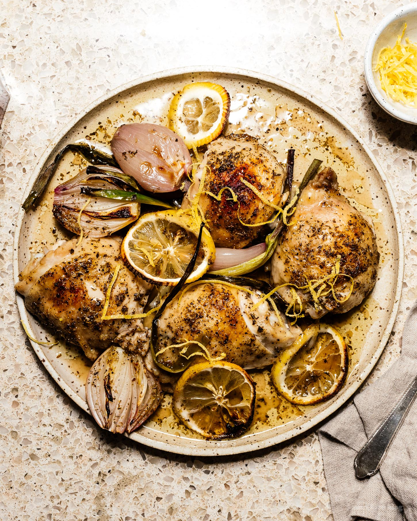 An easy weeknight oven roasted lemon pepper chicken recipe | www.iamafoodblog.com