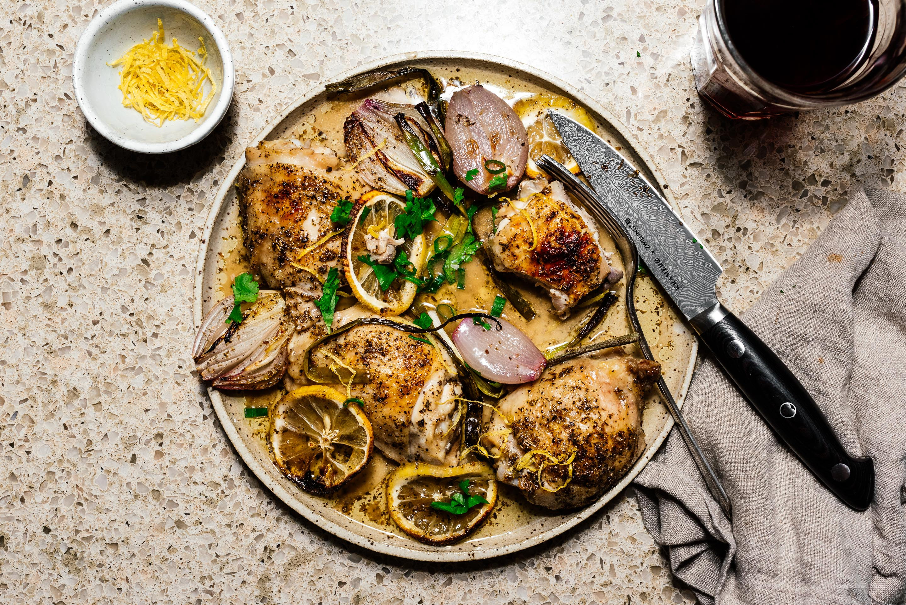 An easy weeknight oven roasted lemon pepper chicken recipe